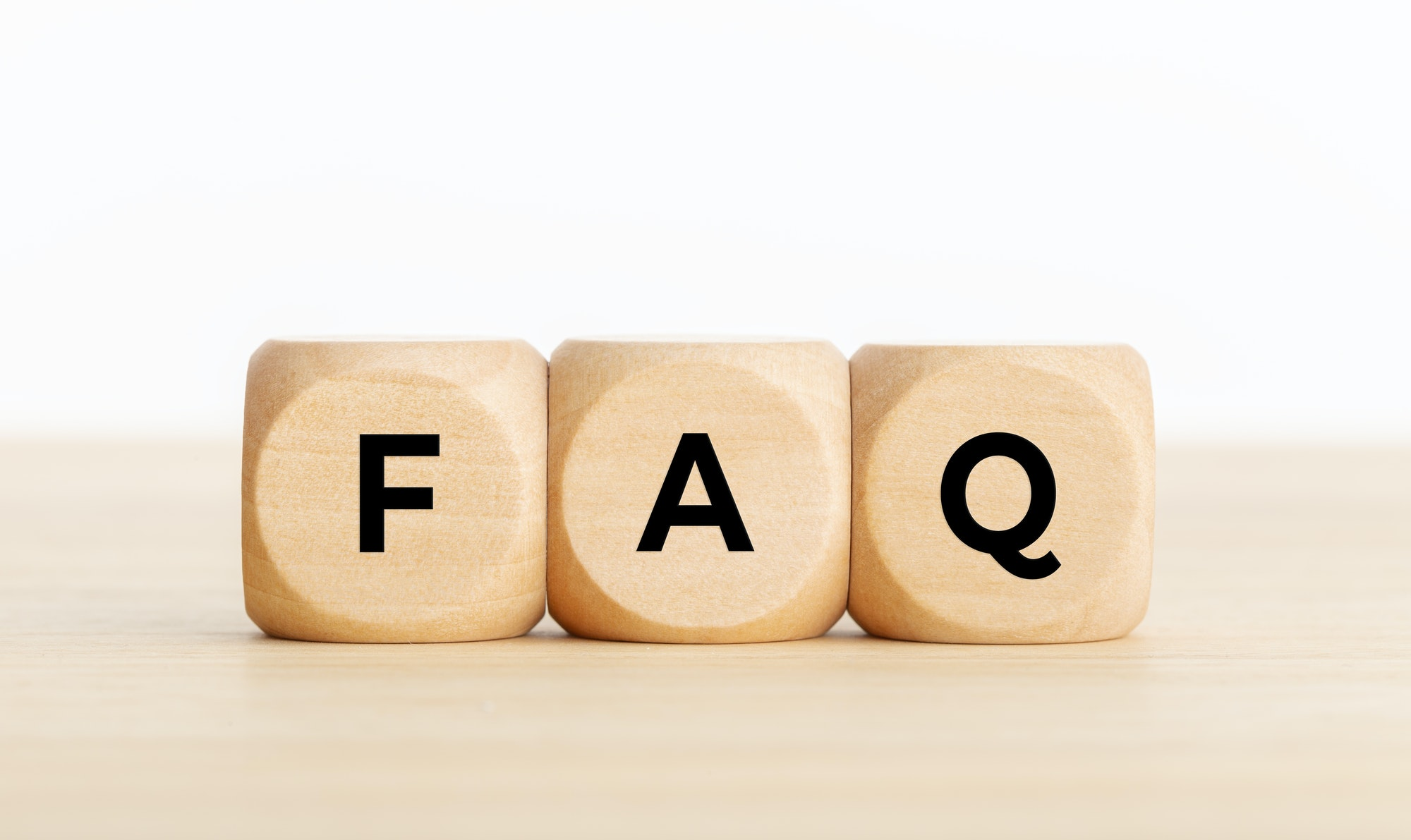 FAQ or frequently asked question concept